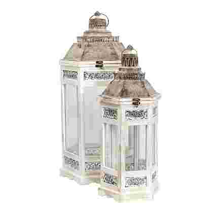 Camondo Farol Blanco set of 2  Madera