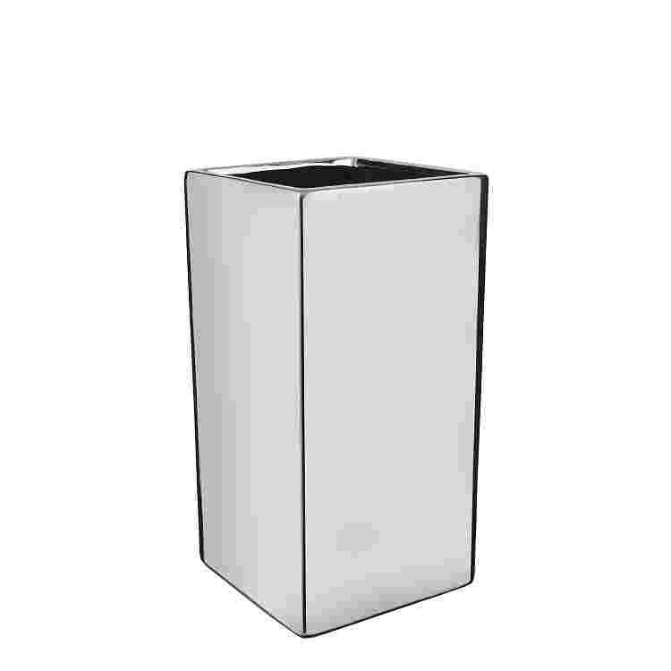 Chaz vase cuadrada Plata  Ceramica