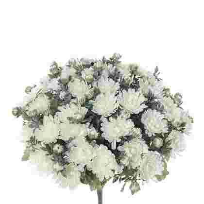 Chrysant boeket h35cm creme