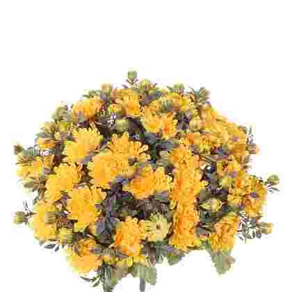 Chrysant boeket h35cm geel