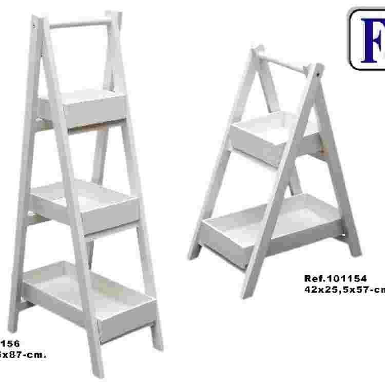 Escalera 2/b desmontable blanco