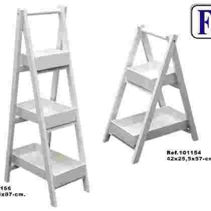 Escalera 3/b desmontable blanco
