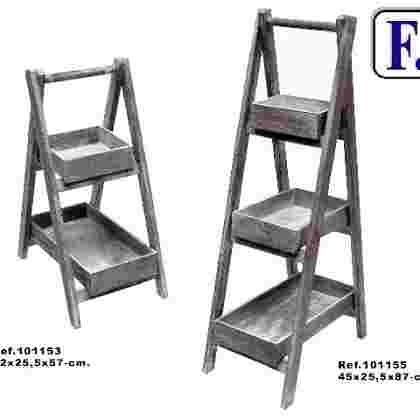 Escalera 3/b desmontable gris