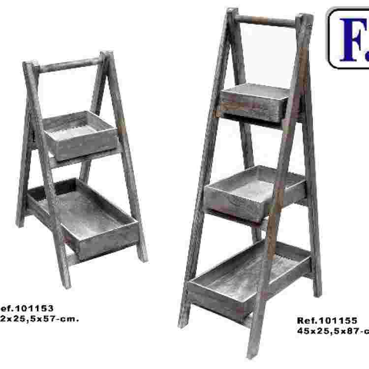 Escalera 3/b desmontable gris