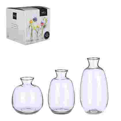 Gena vase Transparente 3 pieces en giftbox  Cristal