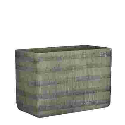 Kyoto maceta rectangle Gris  Cemento