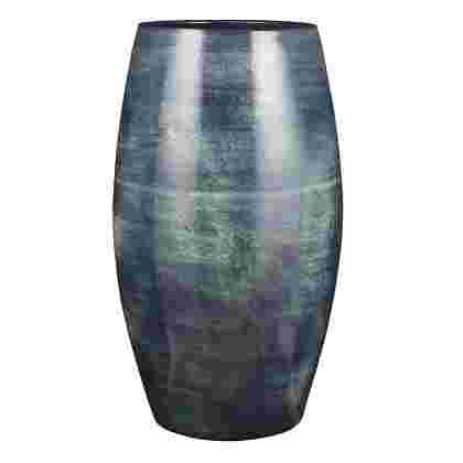 Lester vase redonda d. Azul  Terracota