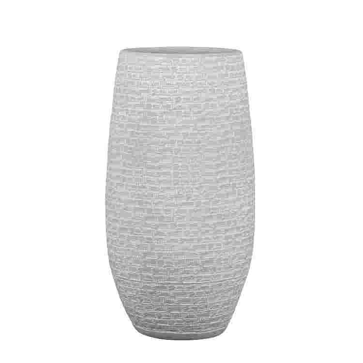 Milos vase redonda l. Gris  Terracota