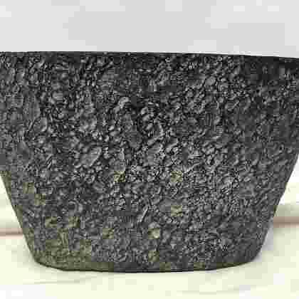 Milou pot oval d. grey