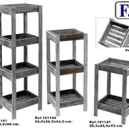 Mueble 3/b desmontable gris