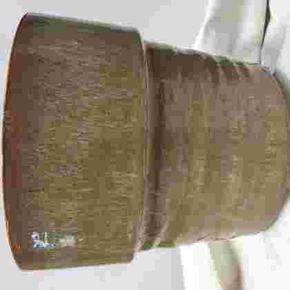 Stef pot round taupe