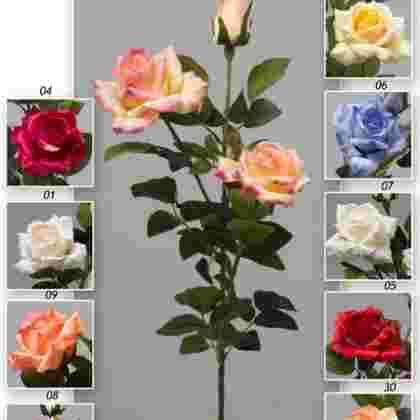 Vara rosa diamante x 3 90 cm